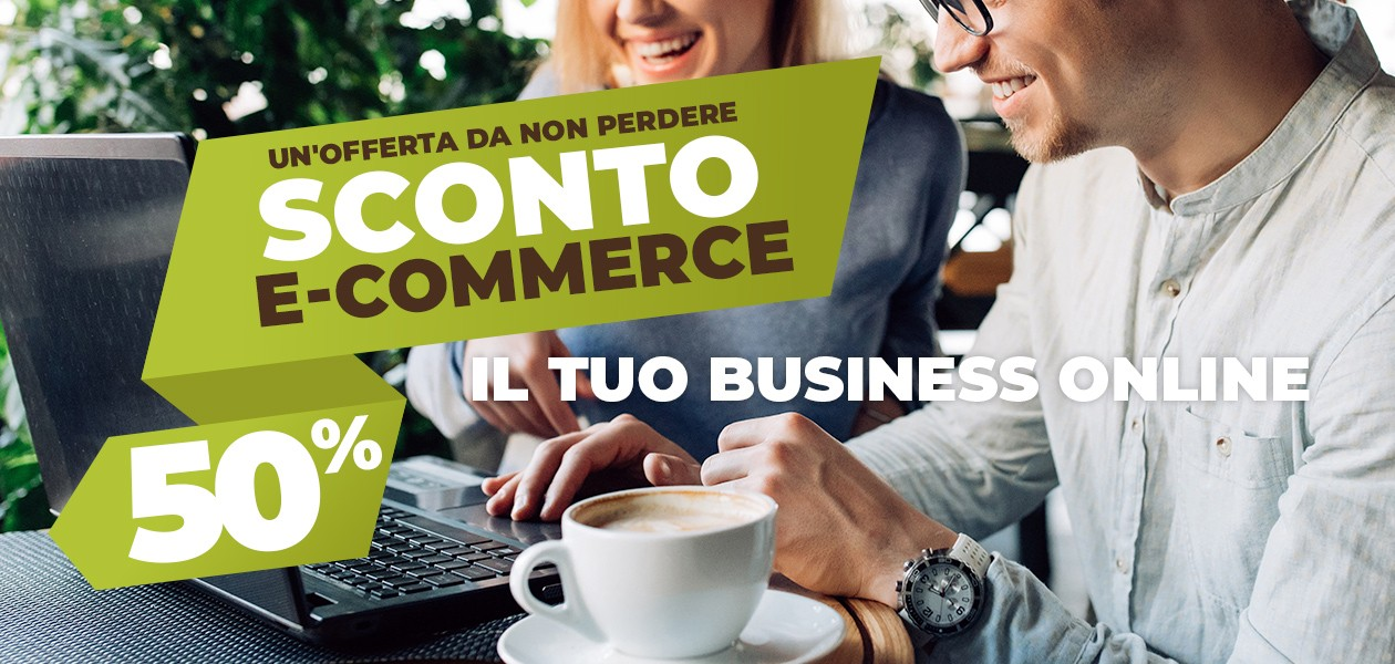 SCONTO 50% E-COMMERCE